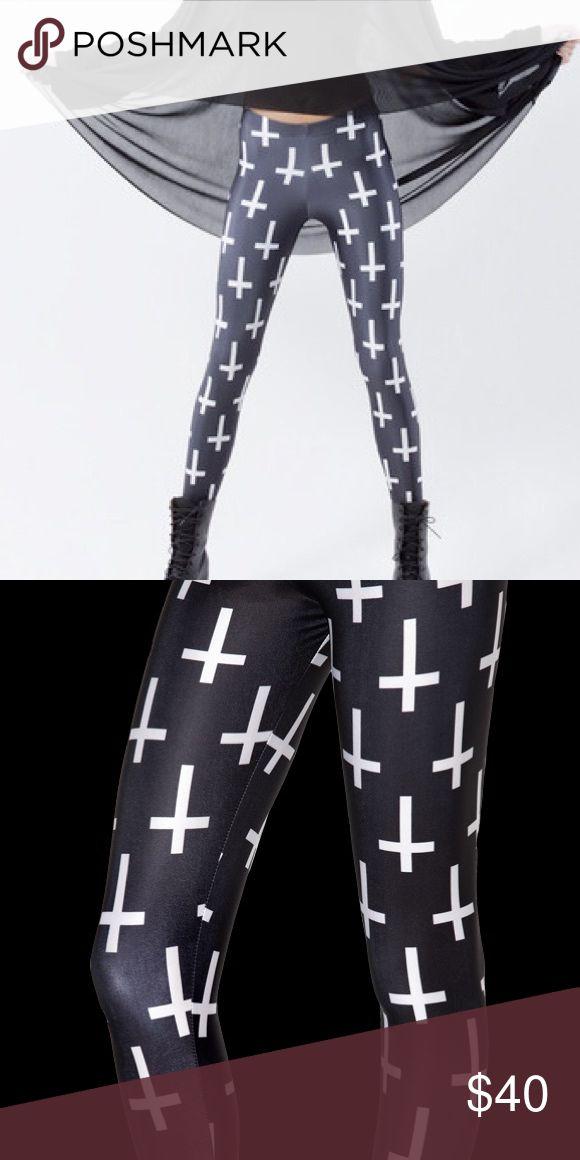 Blackmilk cross leggings Price is non negotiable. Spandex stretch leggings. Worn once or twice - like new condition. Blackmilk Pants Leggings