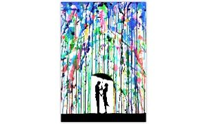 "Groupon - Marc Allante 25""x18"" Rain Silhouette Art Prints in [missing {{location}} value]. Groupon deal price: $24.99"