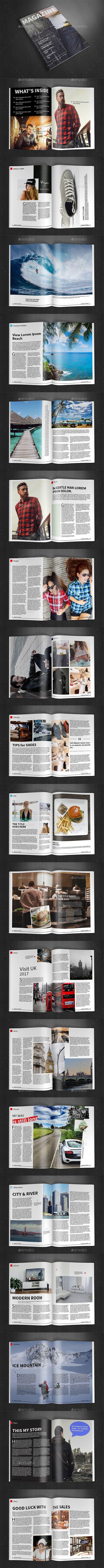 A4 #Magazine Template Vol.24 - Magazines Print #Templates Download here: https://graphicriver.net/item/a4-magazine-template-vol24/19487995?ref=alena994