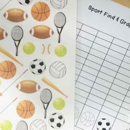 Football math centers: Sports Find, Tally and Graph