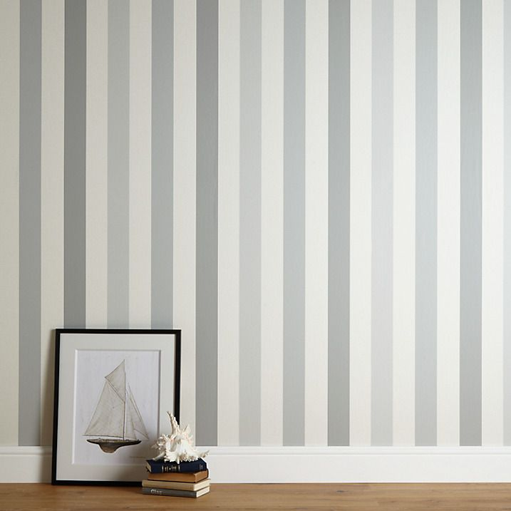 Buy John Lewis Padstow Stripe Wallpaper, Blue Grey Online at johnlewis.com - Best 25+ Striped Wallpaper Ideas On Pinterest Striped Hallway