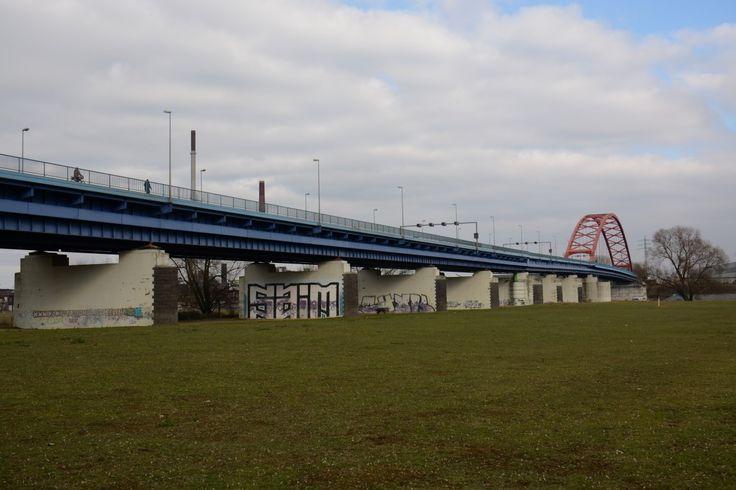 De Brücke der Solidarität is een boogbrug voor het wegverkeer over de Rijn bij de Duitse stad Duisburg. De brug vormt een verbinding tussen twee stadsdelen. De brug werd geopend in 1950 en is 256 meter lang.