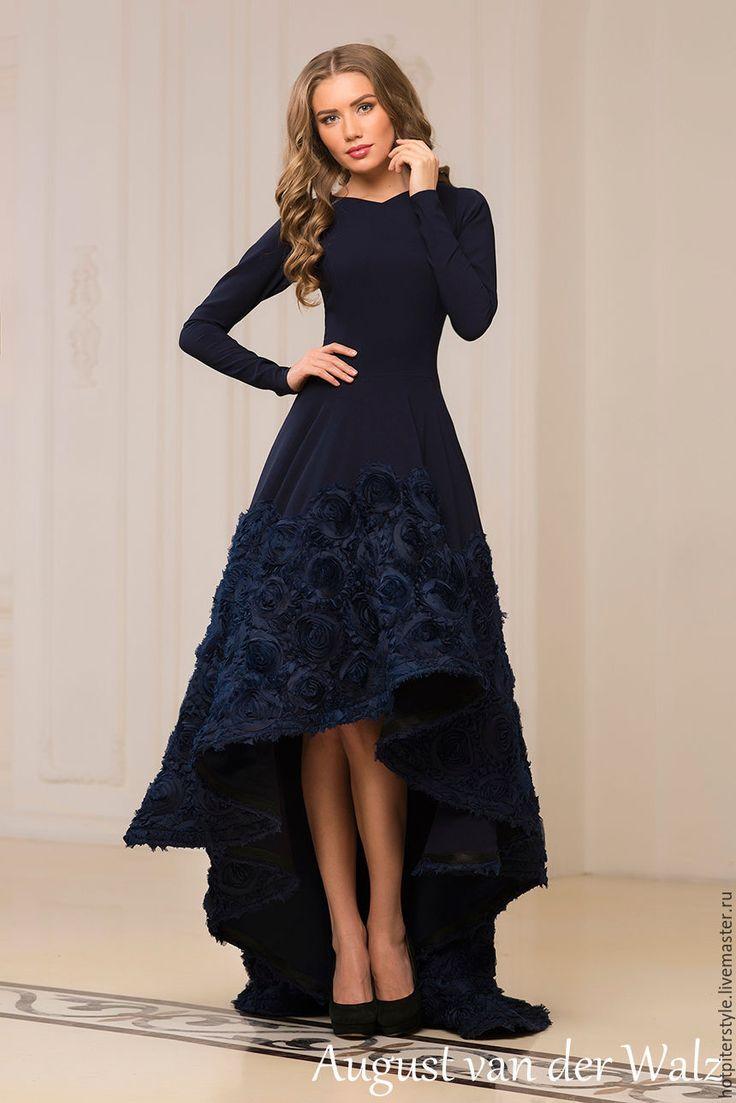 """Купить """"Восторг"""" - однотонный, модное платье, хлопоковое платье, макси платье, платье в пол"""