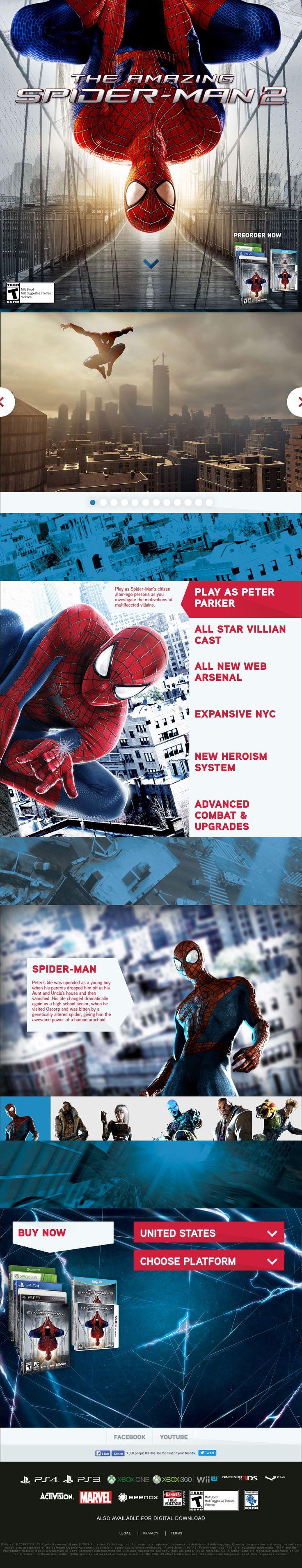 The Amazing Spider Man 2(English) #WebDesign