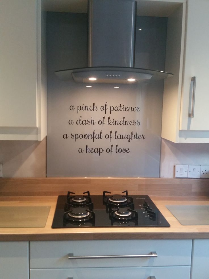 Bespoke glass splashback. This client requested their favourite verse to be…