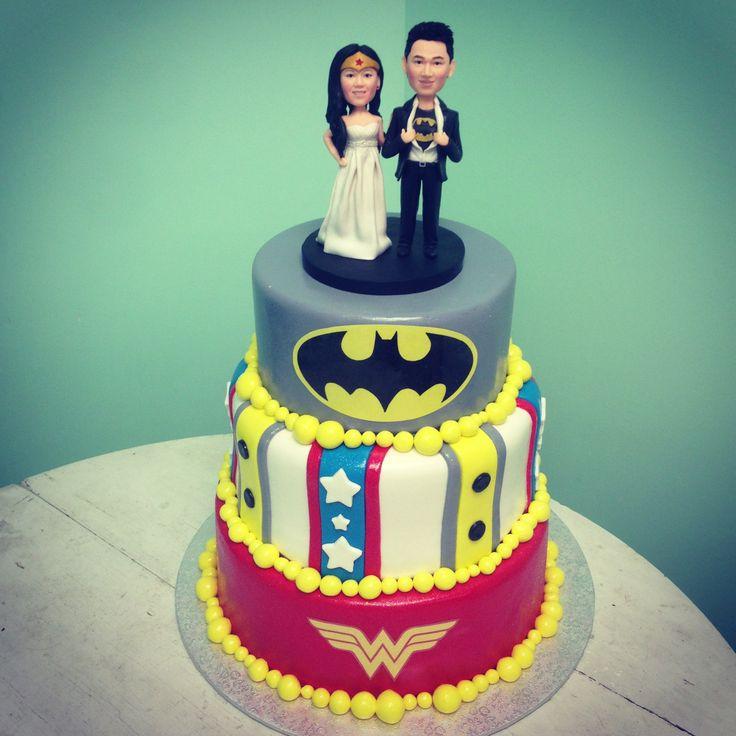 Superhero Wedding Cake Www.pinkribbonbakery.ca