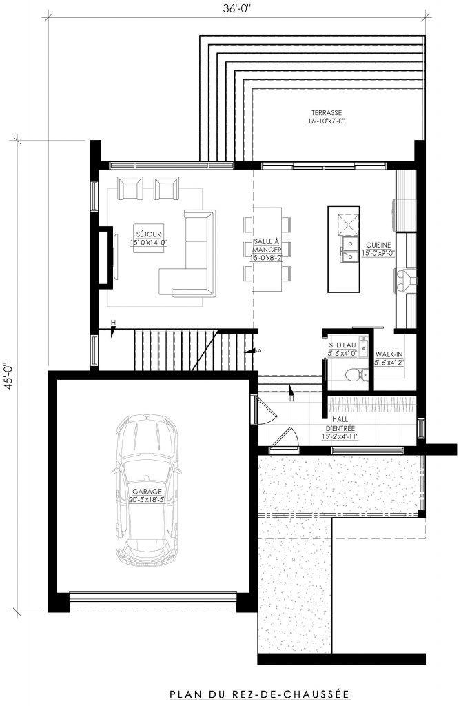 Plan de Maison Moderne Ë_142 in 2019   Cabin Life Two   House design ...