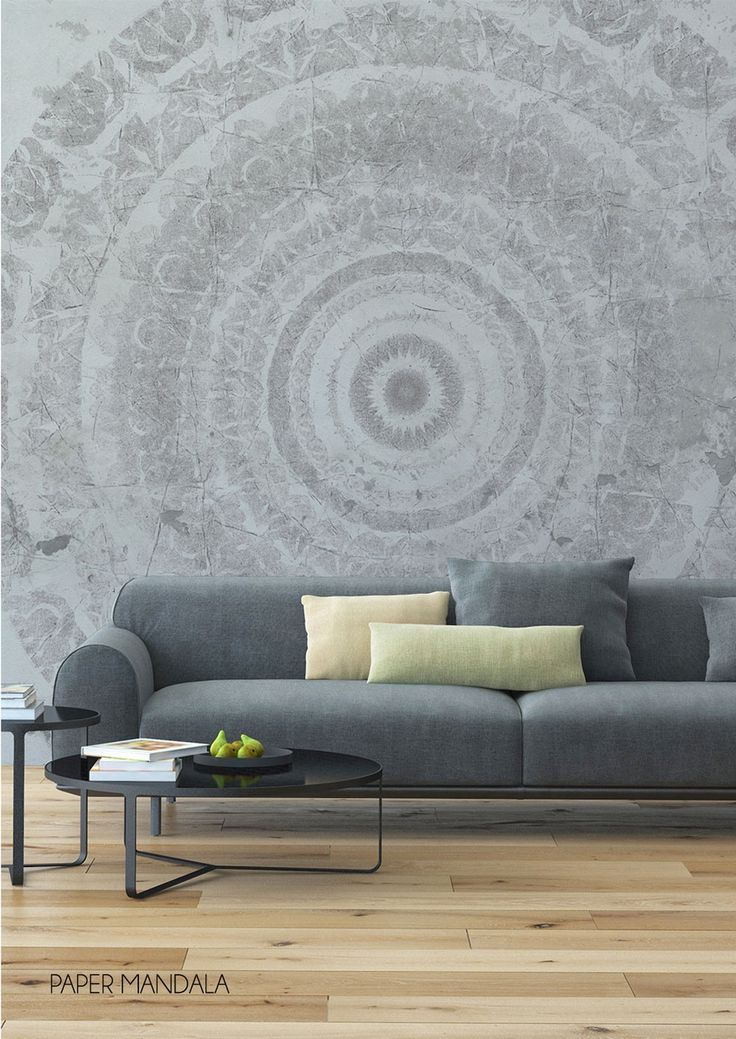 This lovely paper mandala wallpaper mural by behangfabriek is specially designed for those who dare to