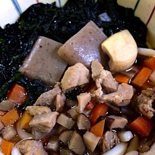 昨日の根菜スープで、うどん。 わかめもたっぷり入れて、 大満足! - 15件のもぐもぐ - リメイク☆根菜スープ→わかめうどん! by 1124imari