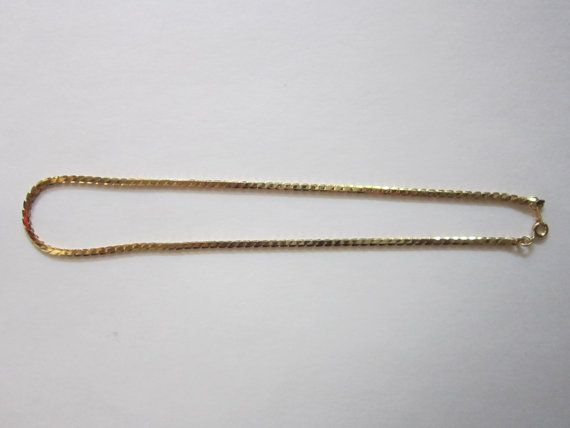 Vintage Deadstock TEXTURE Thin GOLD Chain by shopCALIFORNIAGIRLS, $20.00