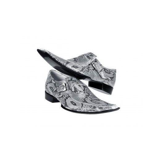 Pánske kožené extravagantné topánky sivé PT035 - manozo.hu