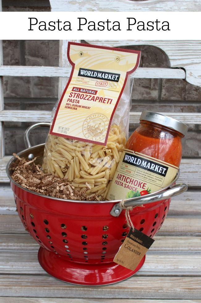BUNCO Prize Baskets From World Market Pasta Pasta Pasta #worldmarkettribe