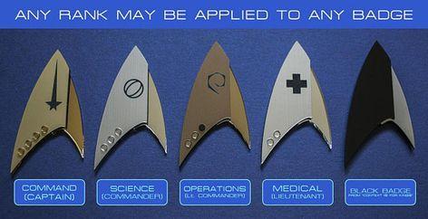 Star Trek découverte insignes Badges grades personnalisés (DISCOVERY)