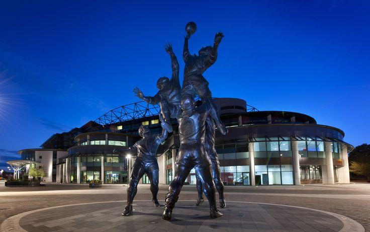 Twickenham Stadium by night - Home of England Rugby - Winners of the RBS Six Nations 2016 #Englandrugby #TwickenhamStadium #London #venue