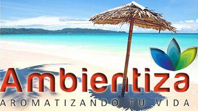 Ambientiza, ambientadores, aroma a bronceador, aroma a playa, aromatizadores, olor a bronceador, olor a playa.