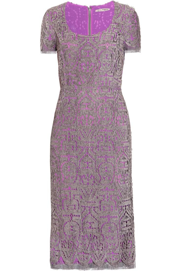 Ports 1961 boat neck lace dress