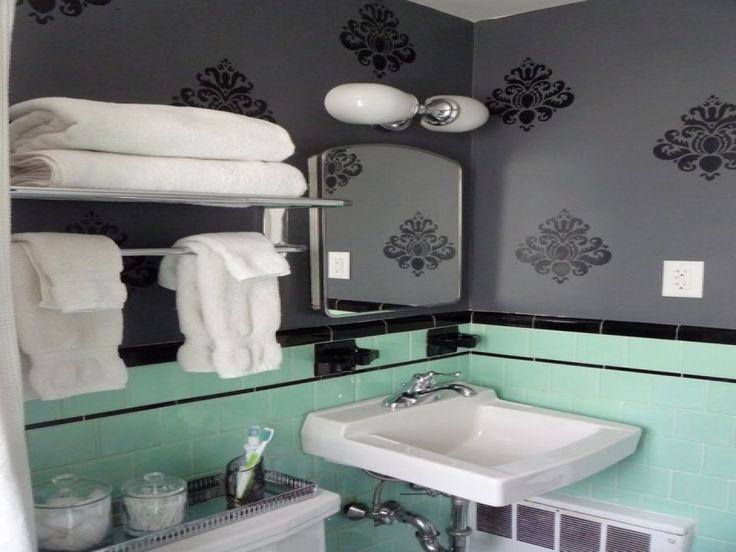 Mint Bathroom Small Bathroom Colors Mint Green Bathrooms Mint Rooms Gray Chevron Bathroom Colorful Bathroom Bathroom LayoutCute Bathroom Ideas Bathroom Wall.