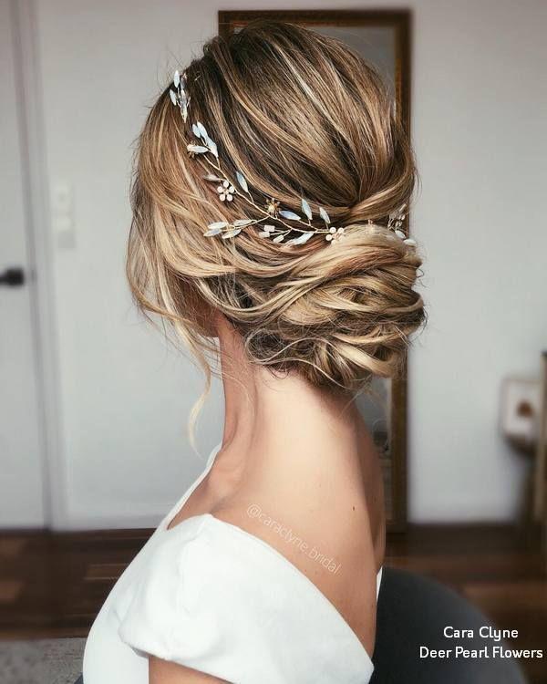 Cara Clyne Lange Hochzeitsfrisuren und Hochzeiten #Hochzeiten #Frisuren #Haar