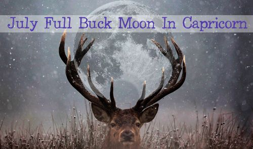 Saturday, July 8 at 9.08pm PST This full moon is called the Buck Moon by the Algonquins of North America as it coincides with new antler growth on young male deer. It is also sometimes called the Thunder Moon as it brings summertime storms. The moon will rise at sunset, peak at midnight and set at sunrise. The Sun and Moon in total opposition between Cancer and Capricorn: Shakti and Shiva, divine feminine and masculine; what we feel vs. what we think we should feel. Too much Capricorn makes…