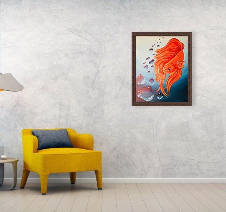 """Bubbles and Betta"" Acrylic on Gessoed Board 16 x 20"" is now available ok my website QueenShyArt.com (to purchase prints) QueenShyArt.Etsy.com (to purchase the original)  #ArtIsLife #QueenShyArt  #Betta #BettaFish #Bubbles #water #underwater #paint #painter #Art #artislife #artistlife #artwork #artist #artistsoninstagram #sketch #sketchoftheday #sketchbook #draw #drawing #drawingoftheday #painterslife #fineart #wallart #homedecor #room #aquarium #betta #workinprogress #instaart #instaartist"