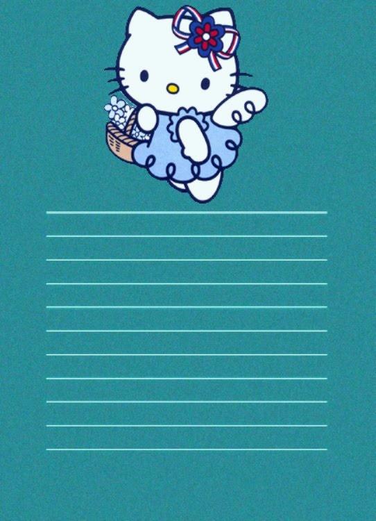 PAPEL DE CARTA 8: Hello Kitty