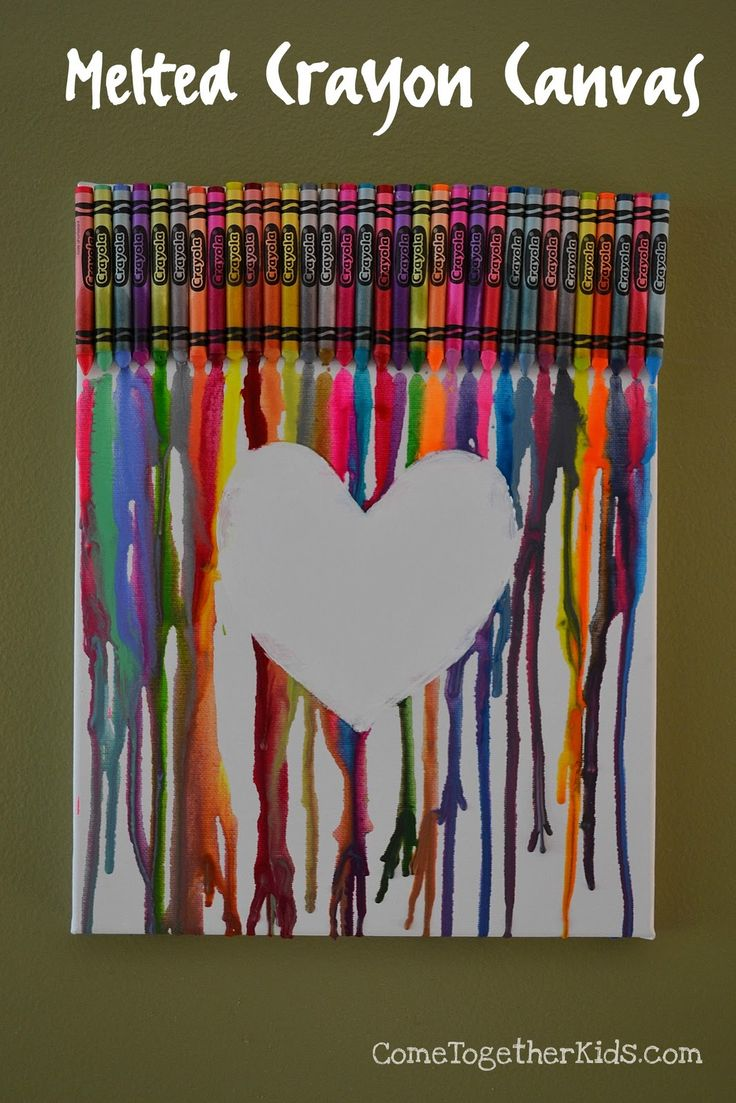variation of the cool crayon melting art