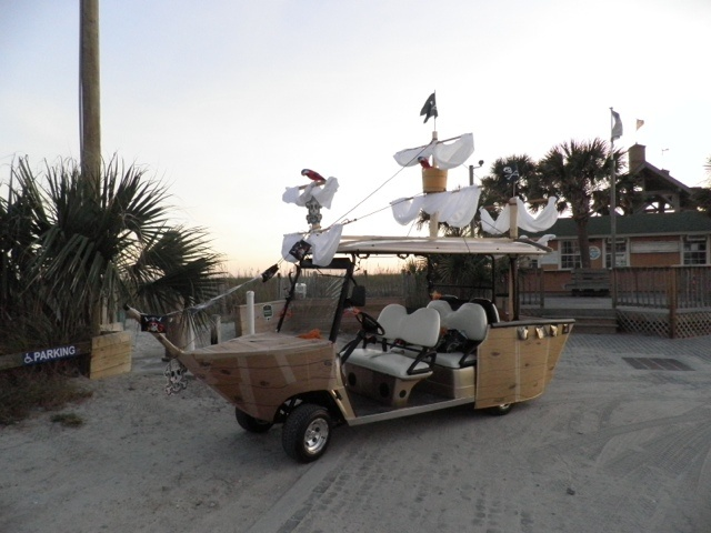 Pirates of the Caribbean Golf Cart