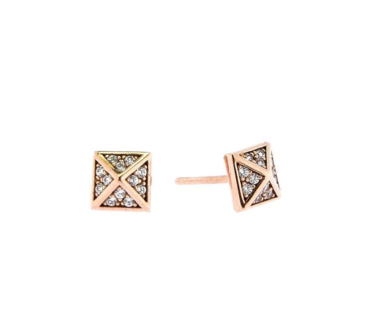 ◇rosegold earrings