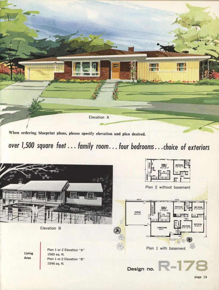 Town country ranch homes 1962 vintage house plans for 1960 ranch house plans