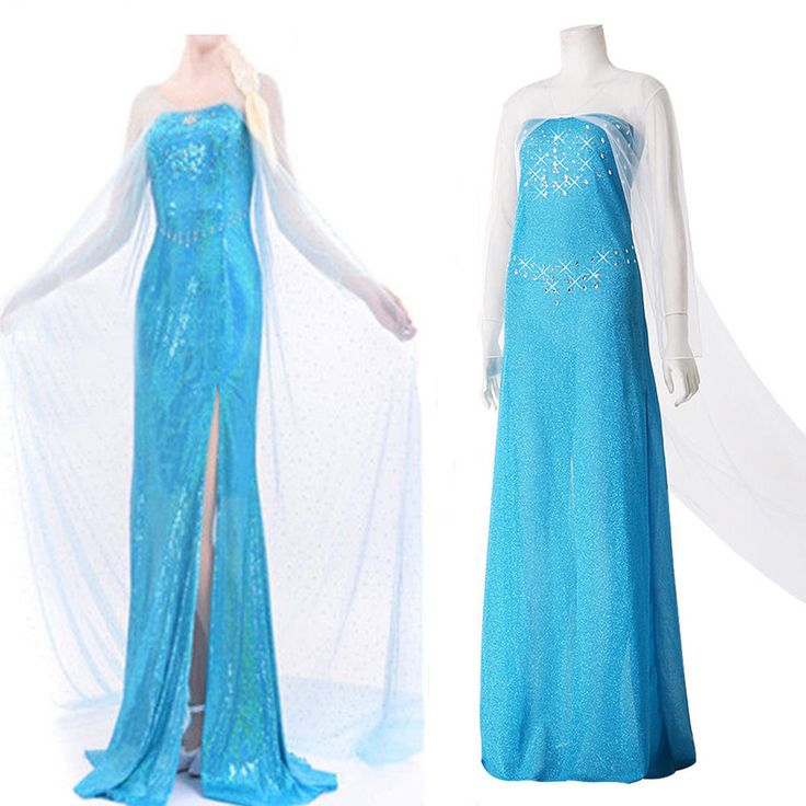 Blue Sexy Lady Disney Frozen Cosplay Adult Women Tulle Elsa Fancy Dress S-XXXL #GL #preppystyle #Everyday