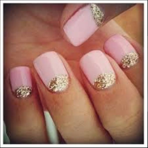Sparkly and pink