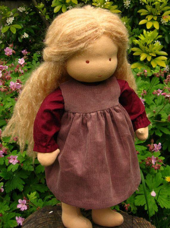 """Waldorf Doll 16"""", Pale blond Hatty"""