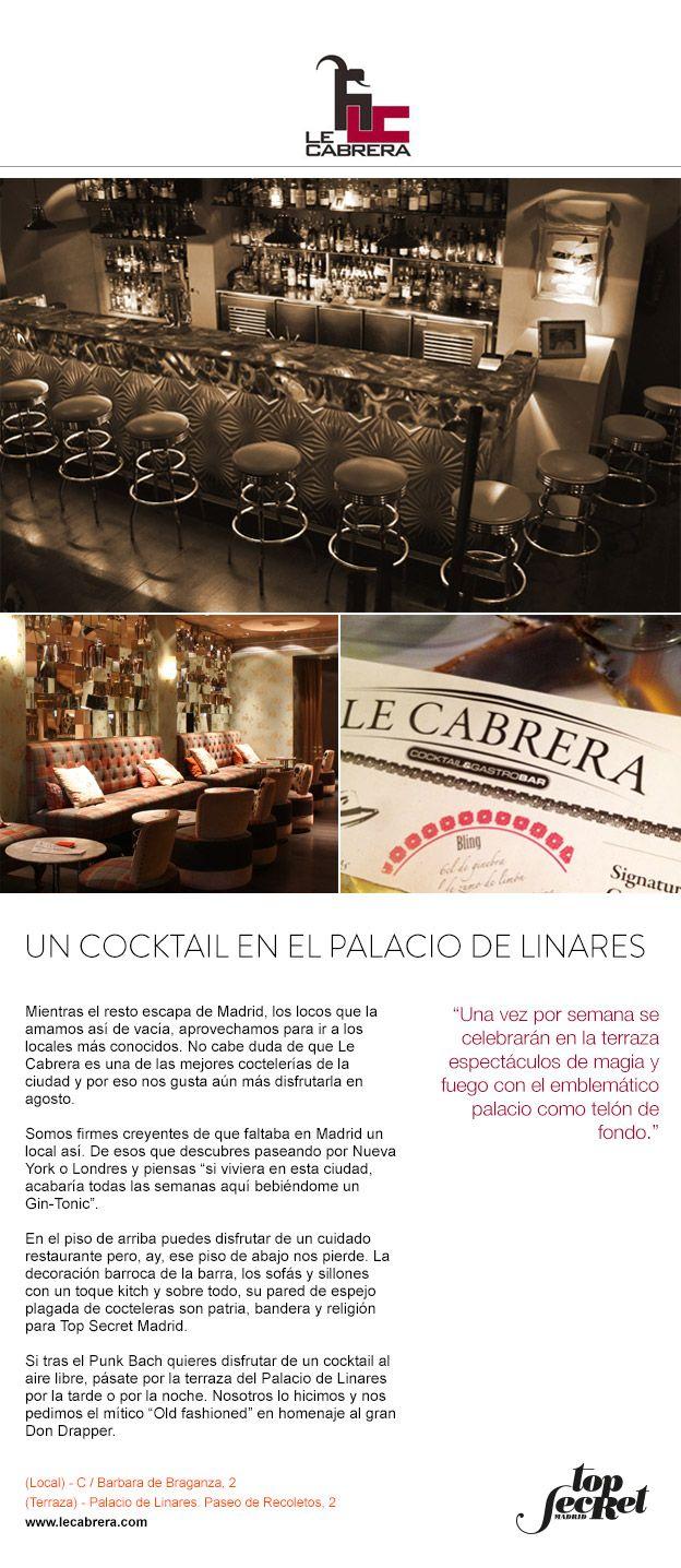 Le Cabrera. Un Cocktail en el Palacio de Linares.