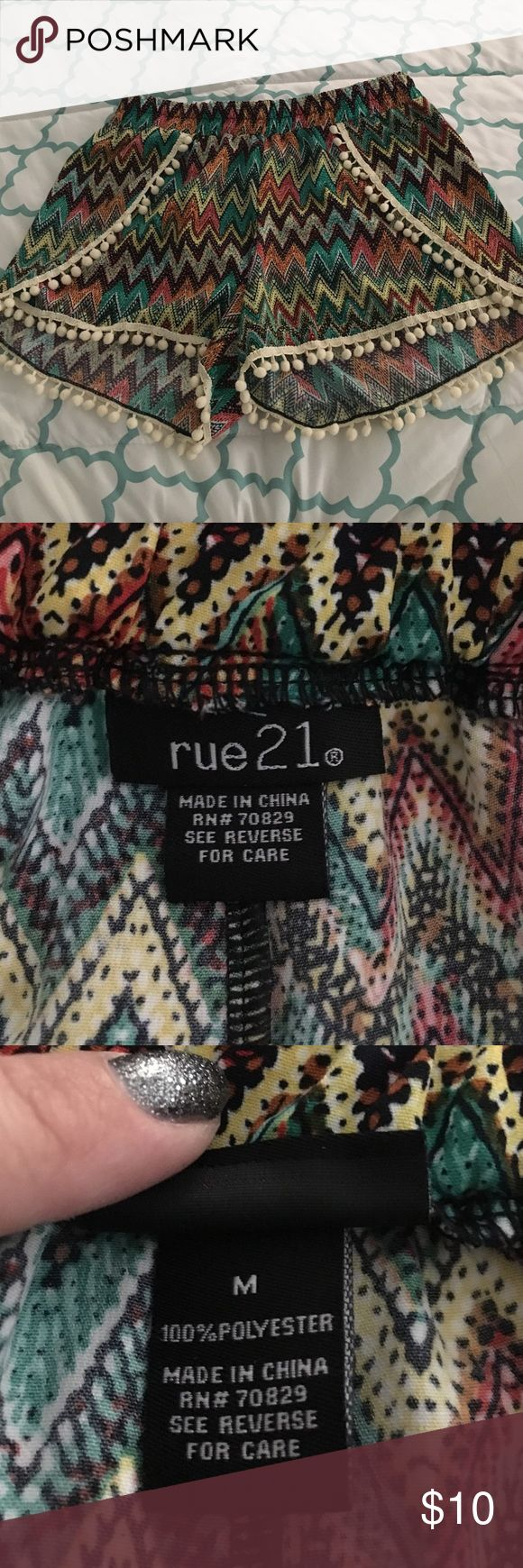 Multi color shorts Multi colored shorts .. Brand new . Worn once Rue 21 Shorts