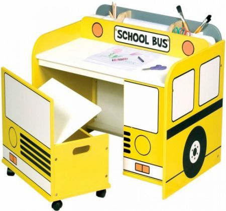 20 Awesome Kids Desks For Painting And Writing : 20 Awesome Kids Desks For  Painting And Writing With Yellow School Bus Table Shape With Chai.