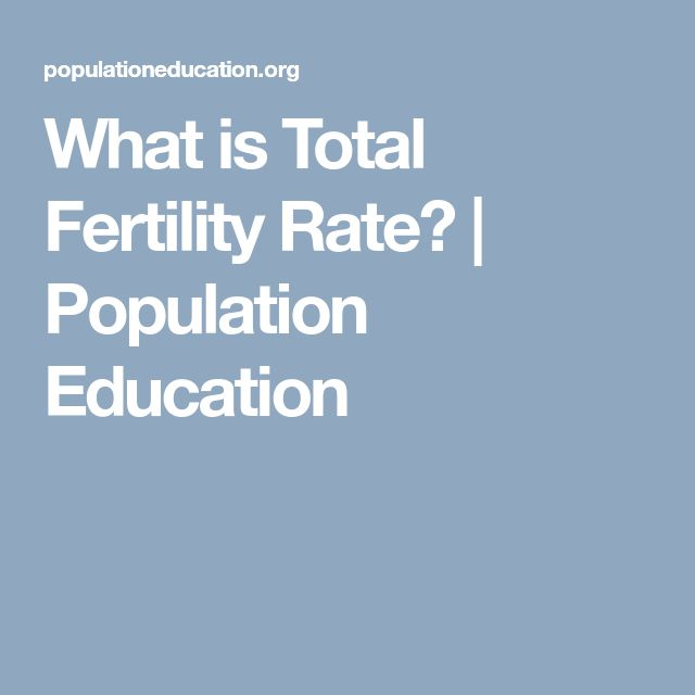 What is Total Fertility Rate? | Population Education