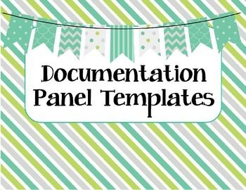 Project Approach Documentation Panel Templates - 8 different templates and text prompts for creating Reggio inspired documentation panels