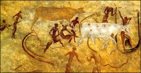 How the Atlantean Lords were depicted by the Commoner class living in the Once-Green Sahara     At One Point a single Neolithic-level cult...