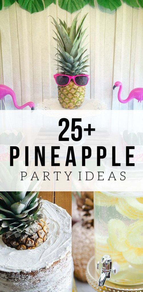 25+ Pineapple Party Ideas, Summer Party Theme, #PartyLikeAPineapple, Pineapple Party Supplies, Pineapple Party Decor, Pineapple Party Shopping Guide, via @CraftivityD