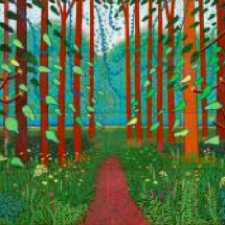 David Hockney - Arrival of Spring