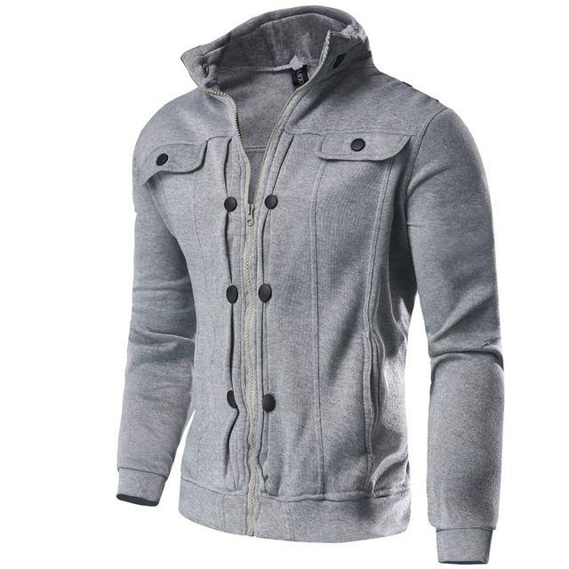 2016 Nueva Primavera Sudaderas Hombre Moda Sólido Delgado Soporte Chaqueta  de Abrigo Prendas de Vestir Exteriores