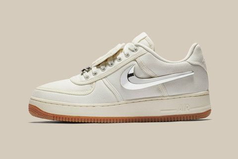 """68bccee90432 The Travis Scott x Nike Air Force 1 """"Sail"""" Sneaker Finally Gets a Release  Date"""