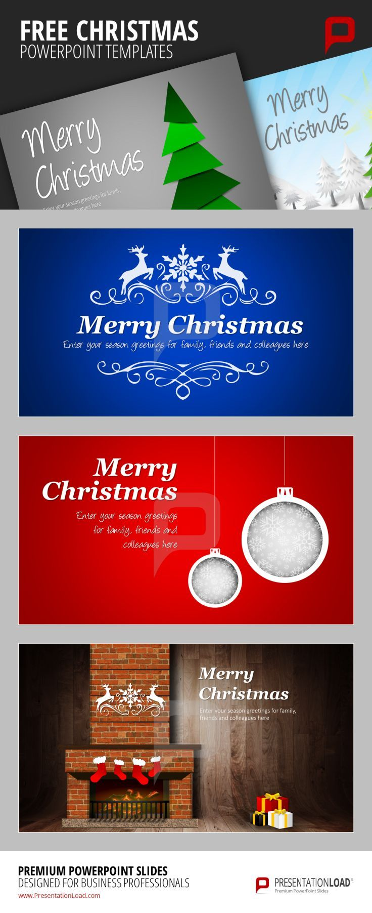 38 best FREE CHRISTMAS // POWERPOINT TEMPLATES images on Pinterest ...
