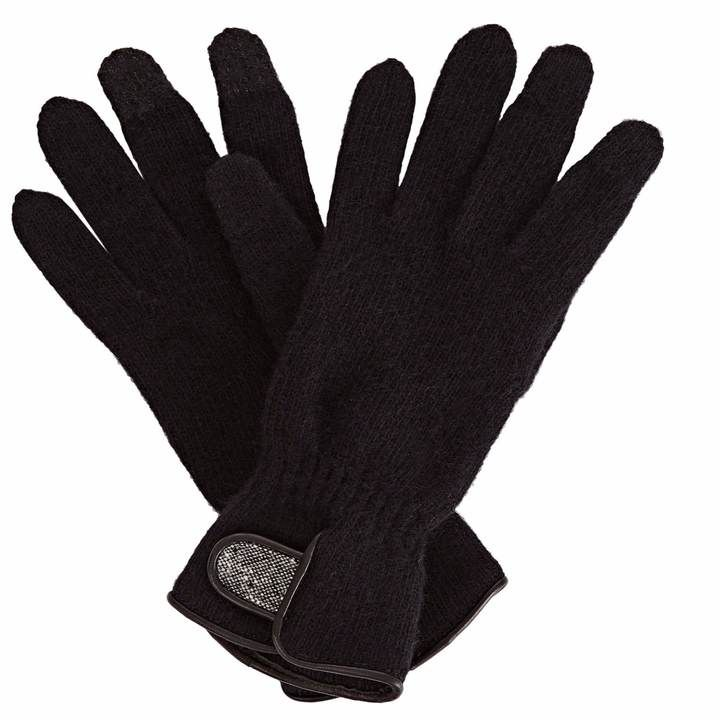 Gizelle Renee - Sandy Sue Black Wool Gloves With Black Speckle Wool