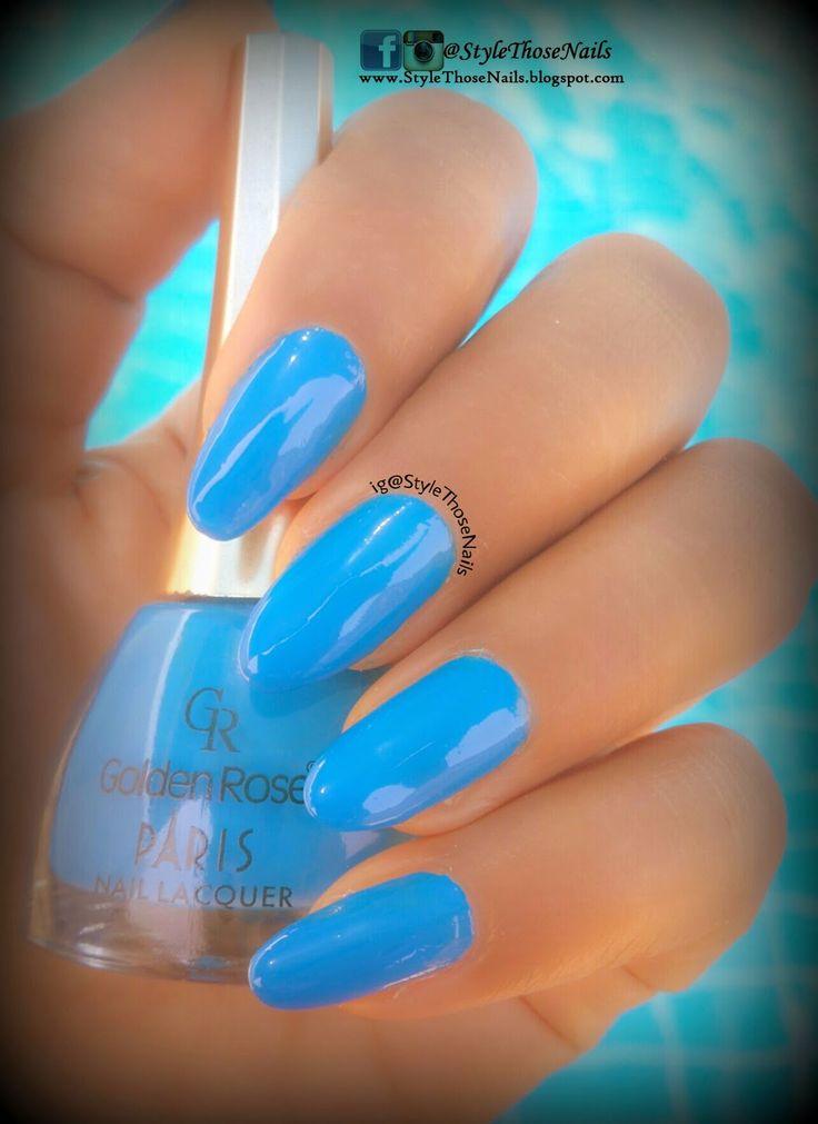 Style Those Nails: Swimming pool Nails - Golden Rose Paris Nail Lacqu...