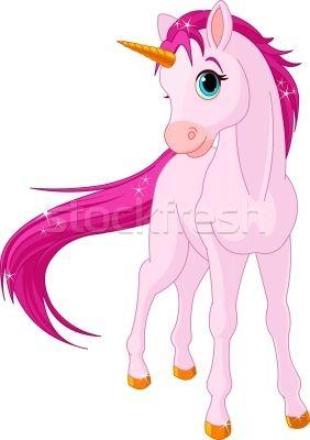 Baby unicorn - ilustração de vetor por Anna Velichkovsky (Dazdraperma) - Stockfresh #964148