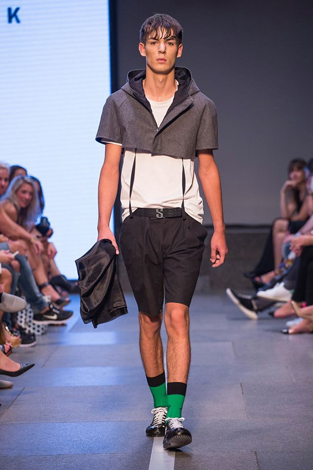 #catwalk #fashionshow #mbpfw #stinak #isolation #greensocks #ss15 #boy #vladimirstanek #