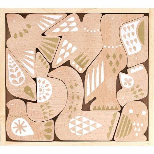 Træpuslespil, Fugle, Petit Collage - Legetøj
