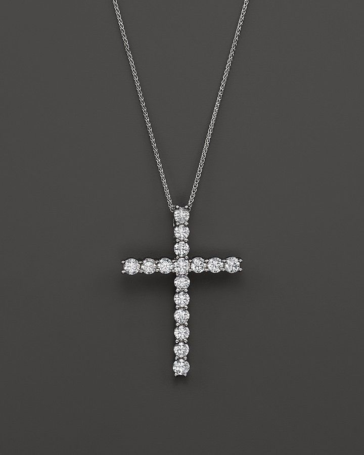 Bloomingdale's Diamond Cross Pendant Necklace in 14K White Gold, 2.50 ct. t.w. on shopstyle.com
