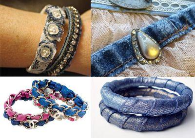 Come riciclare i vecchi jeans: tante idee di riciclo creativo del denim #moda #diy #faidate  riciclo creativo jeans denim riciclare riusare riutilizzare moda fai da te borse scarpe vestiti accessori braccialetti